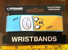 Adventure Time Bracelet Wristband Rubber Official New Yellow Blue