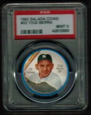1962 Salada Coins #33 Yogi Berra Yankees MINT PSA 9