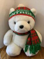 Vintage Dayton Hudson Santa Bear 1986 Plush Christmas White Bear Collectable