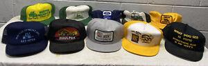 Vintage Trucker Hats Group Lot John Deere Ford Haulpak  Allis Tractor Gas Oil