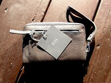 New with Tags Restoration Hardware Graphite Leather Wallet/Wristlet/Clutch