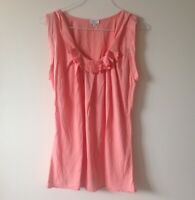 Aritzia WILFRED Womens Salmon Orange Sleeveless Top Size XS