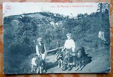 CPA MORVAN - GARDEURS DE CHEVRES - 1913