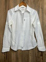 Columbia Outdoor Omni-Shade Vented Long Sleeve Shirt White Women's Sz Small