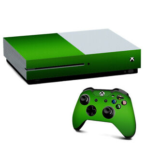Xbox One S Console Skins Decal Wrap ONLY Lime Green carbon fiber look