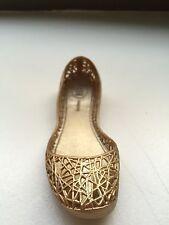 Melissa Shoe gold ~Desk Ornament ~ Mini EXCLUSIVE Nina Garcia Collectible Brazil