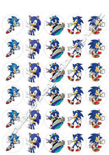 30  sonic the hedgehog cake toppers 40mm  Printed on premium rice paper