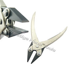 PTL Parallel Flat Nose Pliers Opticians Jewllery Making Tools Spring Prestige