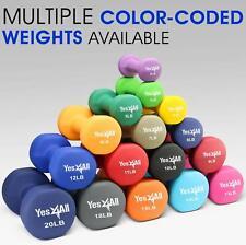 Yes4All Neoprene Coated Dumbbells Weight Set Home Gym Dumbbell 2 lb - 20 lb Pair