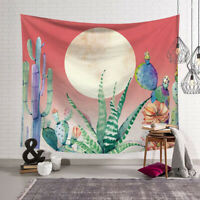 Cactus and Moon Tapestry Wall Hanging Décor Mat 95x73cm HI