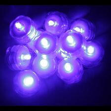 Led Tea Light Submersible Waterproof Battery ~ Wedding Decoration ~ Purple 12 Pa