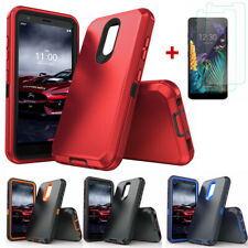 For LG Aristo 4+ Plus/K30 2019/Journey LTE Belt Clip Phone Case+Tempered Glass