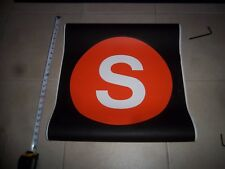22x24 S LINE NYC SUBWAY ROLL SIGN MANHATTAN BROOKLYN ORANGE SIGN SPECIAL SHUTTLE