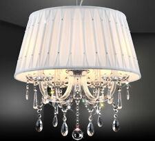 Schirm Kronleuchter Deckenlampe Lüster Glas Kristall Strasen Hängelampe D50cm