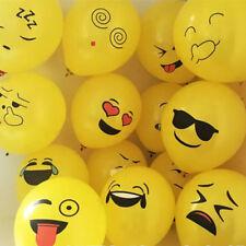 """10pcs 12"""" Emoji Ballons Latex Visage Expression Fête Anniversaire Mariage Décor"""