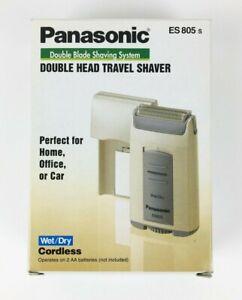Panasonic Double Head Travel Shaver Wet Dry Cordless ES805s