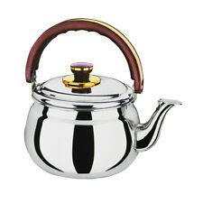 Stainless Steel 1.0 Quart Whistling Tea Kettle Cooking Home Kitchen Silver