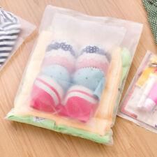5pcs Paquete plastico translucido bolsa almacenamiento impermeable bolsa viaje