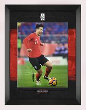 More details for son heung-min signed framed 14x11 photo spurs tottenham hotspur aftal coa