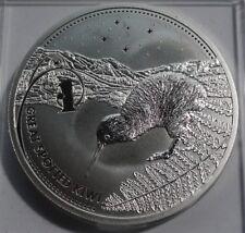 2007 NEW ZEALAND 1 $ Dollar  KIWI 1 oz .999 silver UNC.