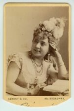 1866-70 CDV French Actress & Opera Singer Marie Aimée by Napoleon Sarony