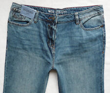 BNWT NEXT  mid blue wide relaxed leg jeans 100% cotton lightweight 10/12/14 R P