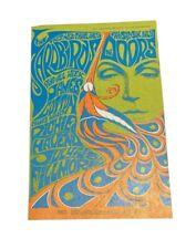 "Framed The Doors Yardbirds 1969 Mini-Poster Tour Fillmore San Francisco 14/""x17/"""
