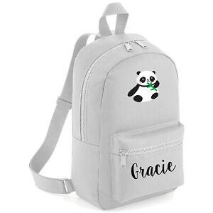Kids Cute Panda Backpack School Back to Personalised For Animal Safari Jungle