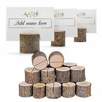 50 Pack Wooden Table Name Place Card Holder Rustic Wedding Party Table Decor