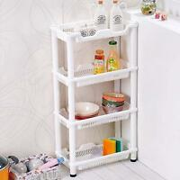 4 TIER FRUIT VEGETABLE RACK STORAGE STAND BATHROOM KITCHEN CADDY RACK TOILETRY