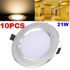 10Pcs 21W LED Recessed Ceiling Panel Down Light Bulb Spot Lamp W/ Driver Round