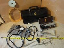 Vintage Homa Upjohn, leather Dr. bag w/ medical tools. Storz, Sklar, V. Mueller