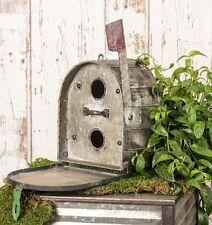 Mailbox Bird House Birdhouse Metal Decorative Vintage Style