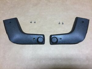 Front Bench Seat Hinge Covers Black Dodge & Plymouth A E Body