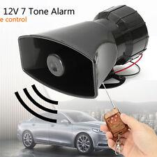 100W 12V Car Horn Siren 7 Sound Tones Wireless Remote Control Alarm Amplifier