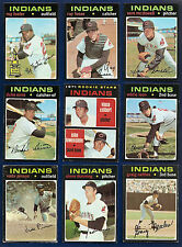 1971 Topps Lot of 41 Indians (21) # 150 275 612 689 Reds (20) #177 357 580 731 +