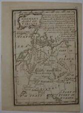 18TH Century Miniatura mapa de Alemania por John Gibson