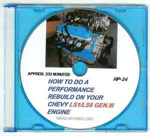 """How to Rebuild your Chevy GM LS Gen III Engine Video Manual.""""DVD or FLASH Drive"""""""