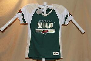 Minnesota Wild  NHL Fan Fashion JERSEY/Shirt  MAJESTIC  Womens Small  NWT $55