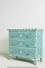 New Handmade Bone Inlay Chest Of 3 Drawers Beautifully Crafted For Home Decor