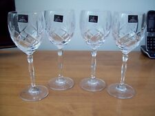 4 X ROYAL DOULTON 24% lead crystal CRYSTAL DAILY MAIL WHITE WINE GLASSES NEW !!