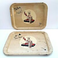 Champ For VIP & For Hot Shot Vintage Metal TV Trays Rare, Trays Only