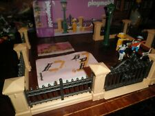 Playmobil 5360 Victorian Fence set 3 figures Bench Working Light 5300 Mansion