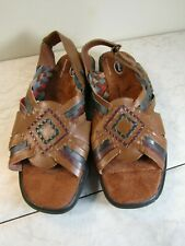 Dr. Scholl's Huarache Strappy Slingback Leather Sandals Shoes Women's 8.5 M