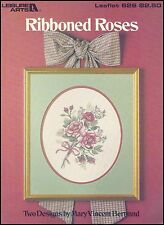 """Leisure Arts - Leaflet 626 """"Ribboned Roses"""" Counted Cross Stitch Charts"""