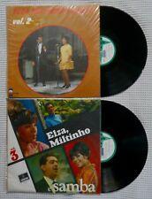 ELZA SOARES MILTINHO & SAMBA Vol. 2&3 Orig '68 '69 ODEON Samba 2LP Vinyl Mono EX