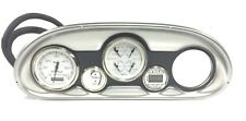 Faira Gauge / Dash Panel Silver & Black 17 1/2' x 6 7/8""