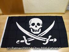 Fahnen Flagge Pirat Totenkopf Sebel Jack Rackham - 90 x 150 cm