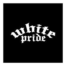 WHITE PRIDE 4X8 HERITAGE RACE PRIDE AMERICAN FUNNY JDM CAR WINDOW DECAL STICKER