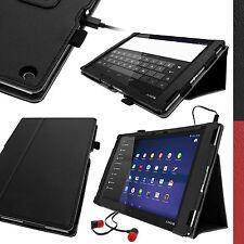 Schwarz PU Leder Hülle Tasche für Sony Xperia Z2 10.1 SGP511 Tablet Cover Case